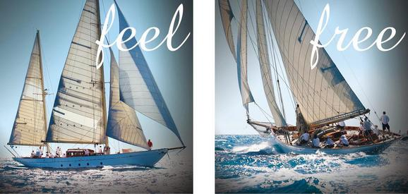 Glasbild Feel Free, ca. 30x60x1,7cm - Multicolor, LIFESTYLE, Glas (30/60/1,7cm)