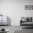 Stehleuchte max. 20 Watt 'Mauro' - Weiß, MODERN, Metall (19/145cm) - Bessagi Home
