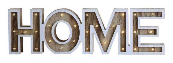 LED-Dekoleuchte Home, max. 0,06 Watt - ROMANTIK / LANDHAUS, Holz (38/3,2/11cm)