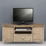 TV-Element in Kieferfarben 'Savannah Antik' - Kieferfarben, Holz/Metall (121,5/54/36,5cm) - Bessagi Home