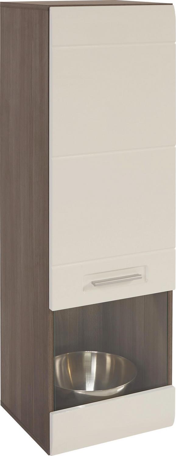 Vitrina Avensis - bela/temno rjava, Moderno (40/123/37cm) - Mömax modern living