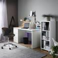 Schreibtisch in Weiß Hochglanz - Weiß, MODERN, Holzwerkstoff (140/75/60cm) - Mömax modern living