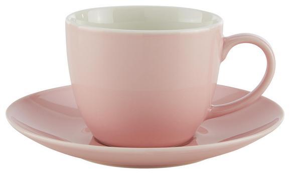 Kaffeetasse mit Untertasse Sandy Rosa aus Keramik - Rosa, KONVENTIONELL, Keramik (5/6,9cm) - Mömax modern living