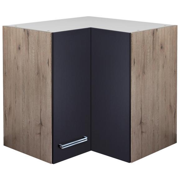 Corp Suspendat Pe Colț Milano - culoare lemn stejar, Modern, compozit lemnos (60/54/60cm)