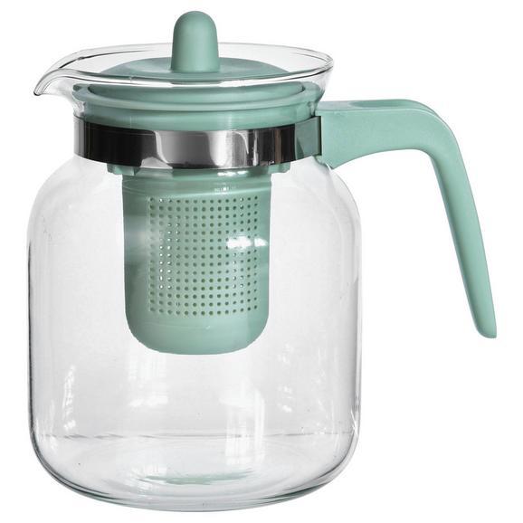Teekanne Tina in verschiedenen Farben - Blau/Hellgrau, Glas (1,5l) - Mömax modern living