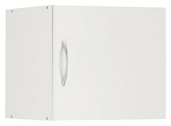 Aufsatzschrank in Weiß - Alufarben/Weiß, Holzwerkstoff/Kunststoff (45/40/40cm) - Mömax modern living