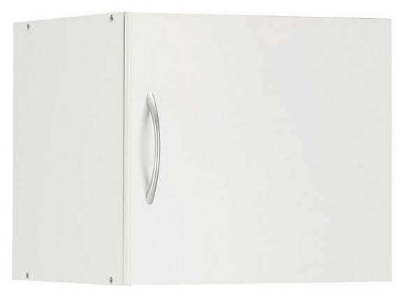 Aufsatzschrank Weiß - Alufarben/Weiß, Holzwerkstoff/Kunststoff (45/40/40cm) - Mömax modern living
