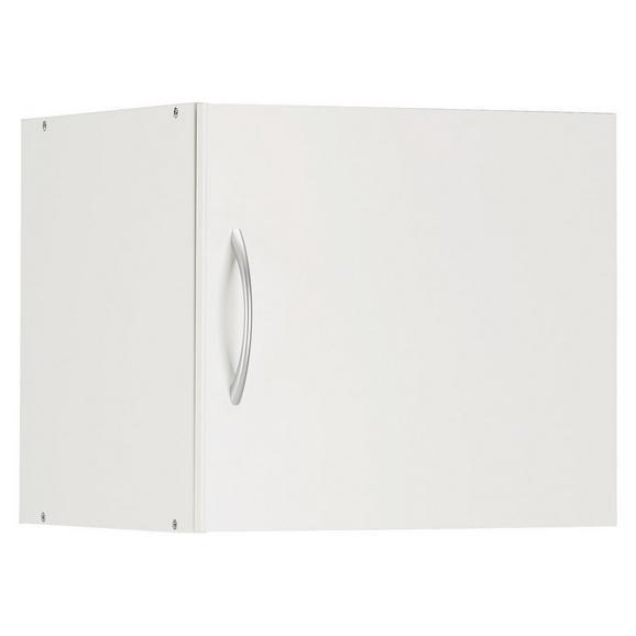 Nastavek Za Omaro Mrk - aluminij/bela, umetna masa/leseni material (45/40/40cm) - Mömax modern living