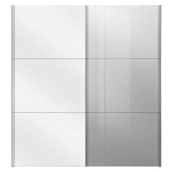 schwebet renschrank in wei mit spiegel online kaufen m max. Black Bedroom Furniture Sets. Home Design Ideas
