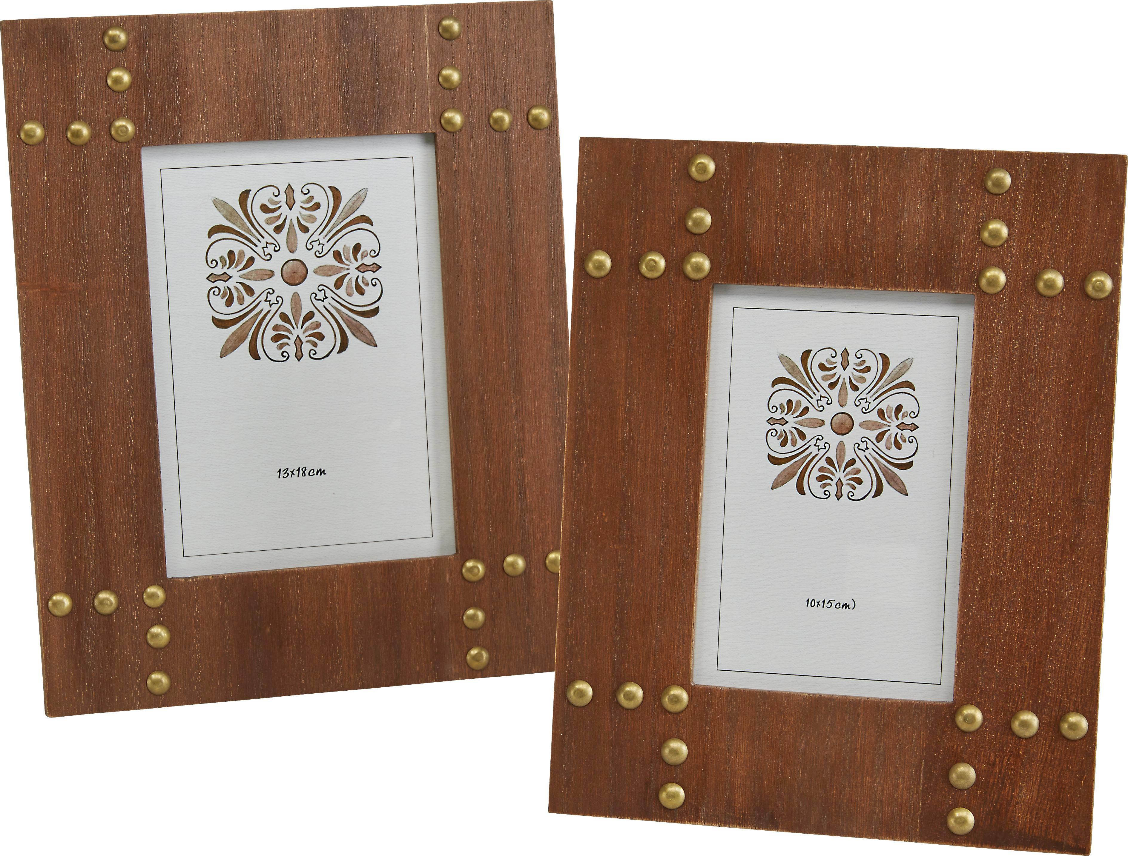 Bilderrahmen Niklas, ca. 19x0,5x24 - Braun, Glas/Holzwerkstoff (19/0,5/24cm) - MÖMAX modern living