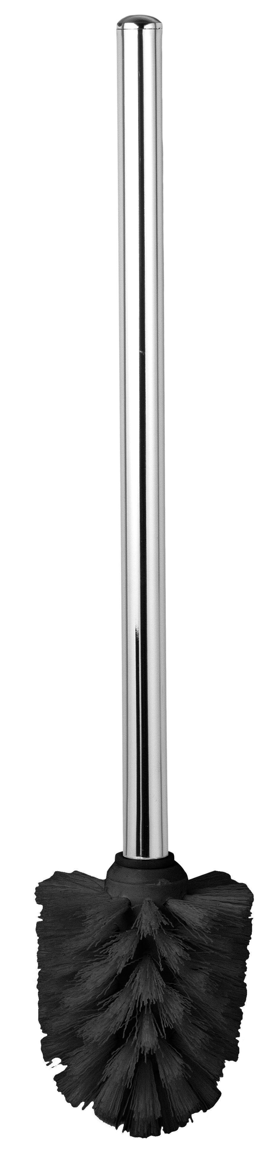 Ersatzbürste Taris in Schwarz aus Metall - Chromfarben, Kunststoff/Metall (7/38/7cm) - MÖMAX modern living