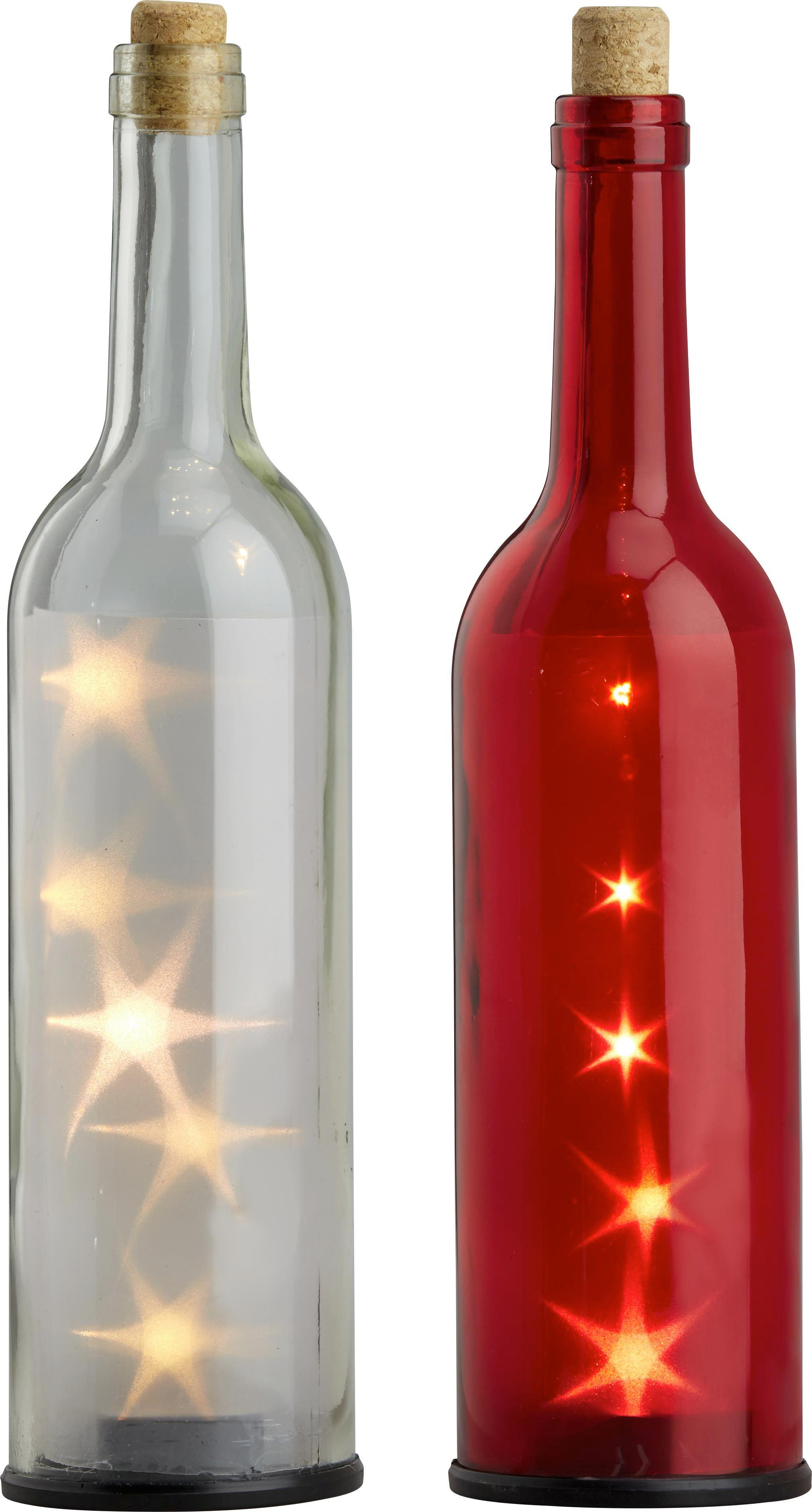 LED-Dekoleuchte Stacy inkl. 5x Led - Transparent/Rot, Glas (30cm)