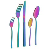 Besteckset Rainbow, 20-teilig - Multicolor, LIFESTYLE, Metall - Mömax modern living