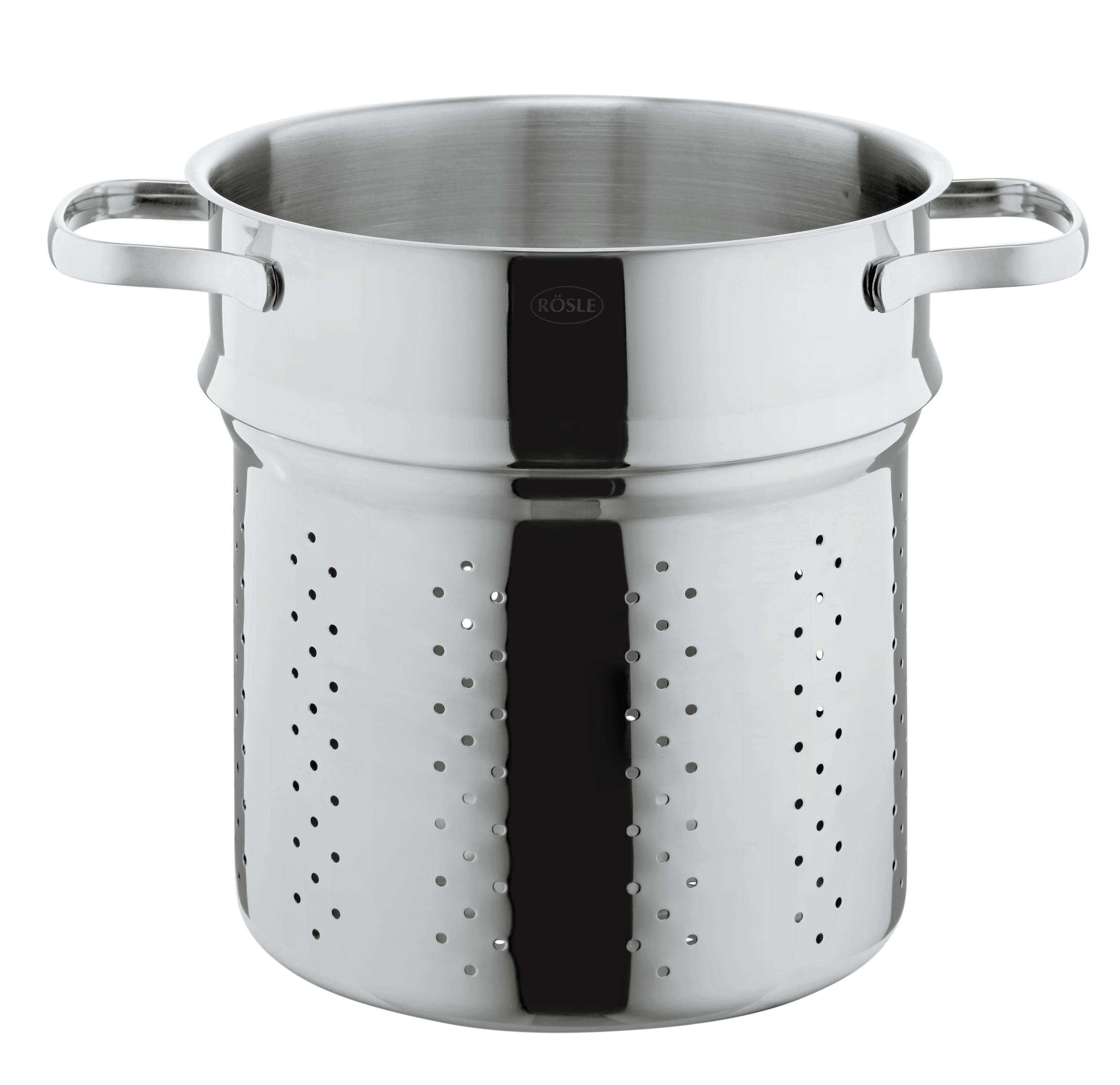 Pastatopf Rösle - Edelstahlfarben, KONVENTIONELL, Glas/Metall (22/22/30cm) - RÖSLE