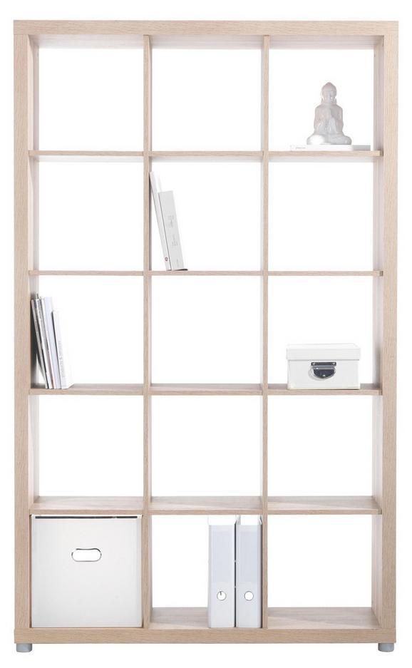 Raumteiler Eichefarben - Eichefarben/Alufarben, Holzwerkstoff/Kunststoff (117/193/35cm) - Mömax modern living