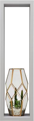 Stenski Regal Regolo -sb- - siva, Moderno, valoviti karton (60/17/15,5cm)