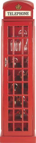 Weinschrank in Rot - Rot/Kupferfarben, LIFESTYLE, Holzwerkstoff/Metall (44/171/44cm) - Mömax modern living