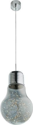 LED-Hängeleuchte Inna - Chromfarben/Grau, MODERN, Glas/Metall (30/150cm) - Mömax modern living