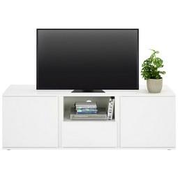 Lowboard in Weiß - Weiß/Grau, MODERN, Holzwerkstoff/Kunststoff (150/50/43cm) - Modern Living