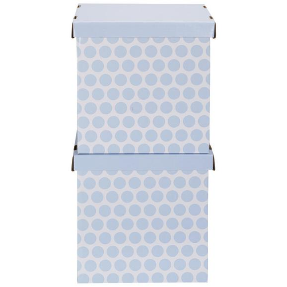 Box mit Deckel Jimmy Blau/Weiß - Blau/Weiß, Karton (31/31/31cm) - Mömax modern living