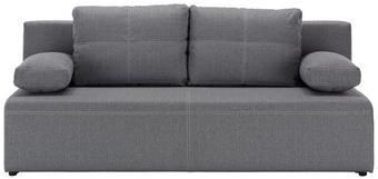 Schlafsofa Hellgrau - Hellgrau/Schwarz, KONVENTIONELL, Kunststoff/Textil (202/88/84cm) - Mömax modern living