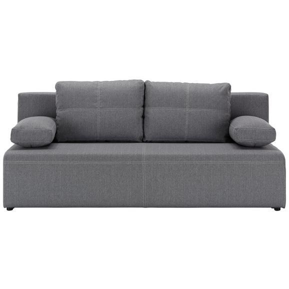 Trosjed Na Razvlačenje München - bijela/siva, Konventionell, tekstil/plastika (202/88cm) - Mömax modern living