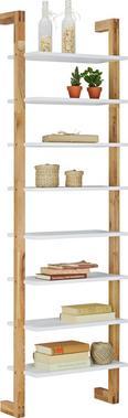Polc Durham - Tölgyfa/Fehér, modern, Faalapú anyag/Fa (55/180/25cm) - Mömax modern living