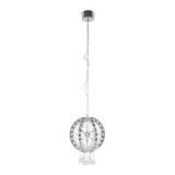 LED-Hängeleuchte max. 20 Watt 'Yasmine' - Chromfarben, MODERN, Glas/Metall (35/35/120cm) - Bessagi Home