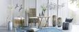 Stuhl aus Mangoholz - Naturfarben/Grau, ROMANTIK / LANDHAUS, Holz (54/100/46cm) - Modern Living