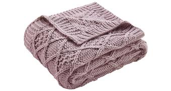 Decke Rahel ca. 130x170 cm in Rosa - Rosa, MODERN, Textil (130/170cm) - Mömax modern living