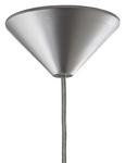 Hängeleuchte Emelle - Silberfarben, MODERN, Glas/Kunststoff (20cm) - Modern Living