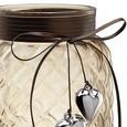 Windlicht Keno Ø/h ca. 14,5/20,5 cm - Hellbraun, MODERN, Glas (14,5/20,5cm) - Mömax modern living