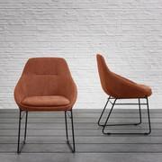 Stuhl Vivian - Schwarz/Orange, MODERN, Holz/Textil (58,5/83,5/61cm) - Mömax modern living