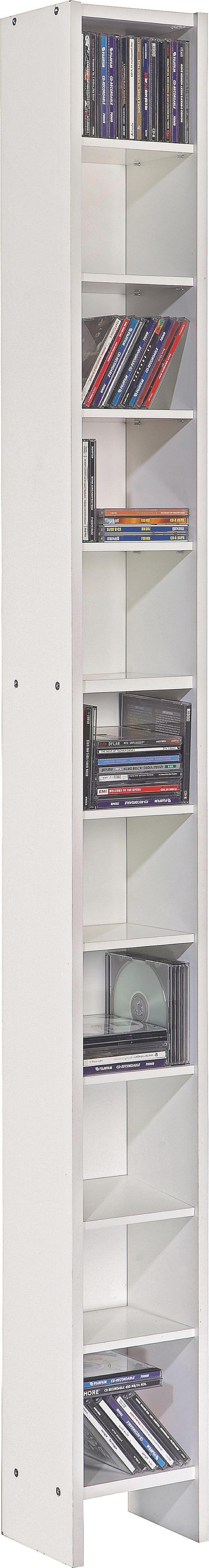 CD-Regal in Weiß - Weiß, Holz (20/185/17cm) - MÖMAX modern living