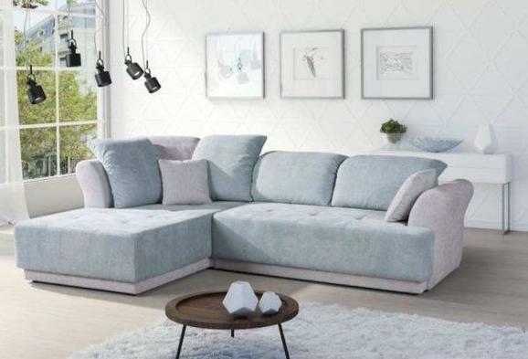 Sedežna Garnitura Pure - meta zelena/siva, Moderno, tekstil (203/100/107cm) - MODERN LIVING