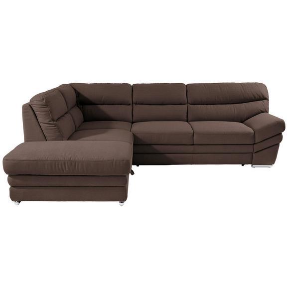 Sedežna Garnitura Victory - krom/rjava, Konvencionalno, kovina/tekstil (217/264cm) - Premium Living