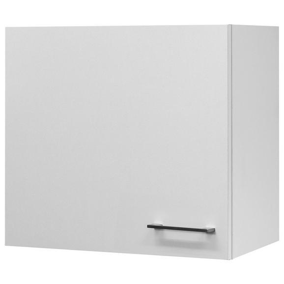 Küchenoberschrank Weiß - Edelstahlfarben/Weiß, MODERN, Holzwerkstoff/Metall (60/54/32cm)