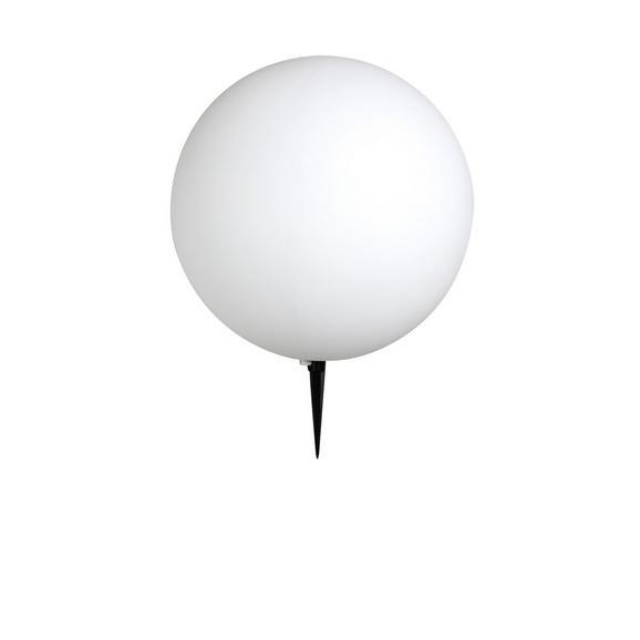 Außenkugelleuchte Toula in Weiß max. 30 Watt - Schwarz/Weiß, MODERN, Kunststoff (40/56cm)