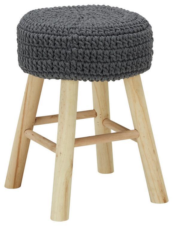 Hocker in Grau/Natur - Naturfarben/Grau, ROMANTIK / LANDHAUS, Holz/Holzwerkstoff (31/42cm) - Mömax modern living