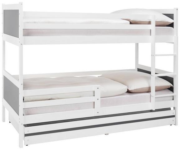 Hochbett in Weiß, ca. 90x200cm - Weiß, MODERN, Holz/Holzwerkstoff (206/150/95cm) - PREMIUM LIVING
