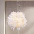 Függőlámpa Larissa - Fehér, romantikus/Landhaus, Fém (30/110cm) - premium living