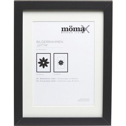 Bilderrahmen Gitta, ca. 18x24cm in Schwarz - Schwarz, MODERN, Glas/Holz (18/24cm) - Mömax modern living