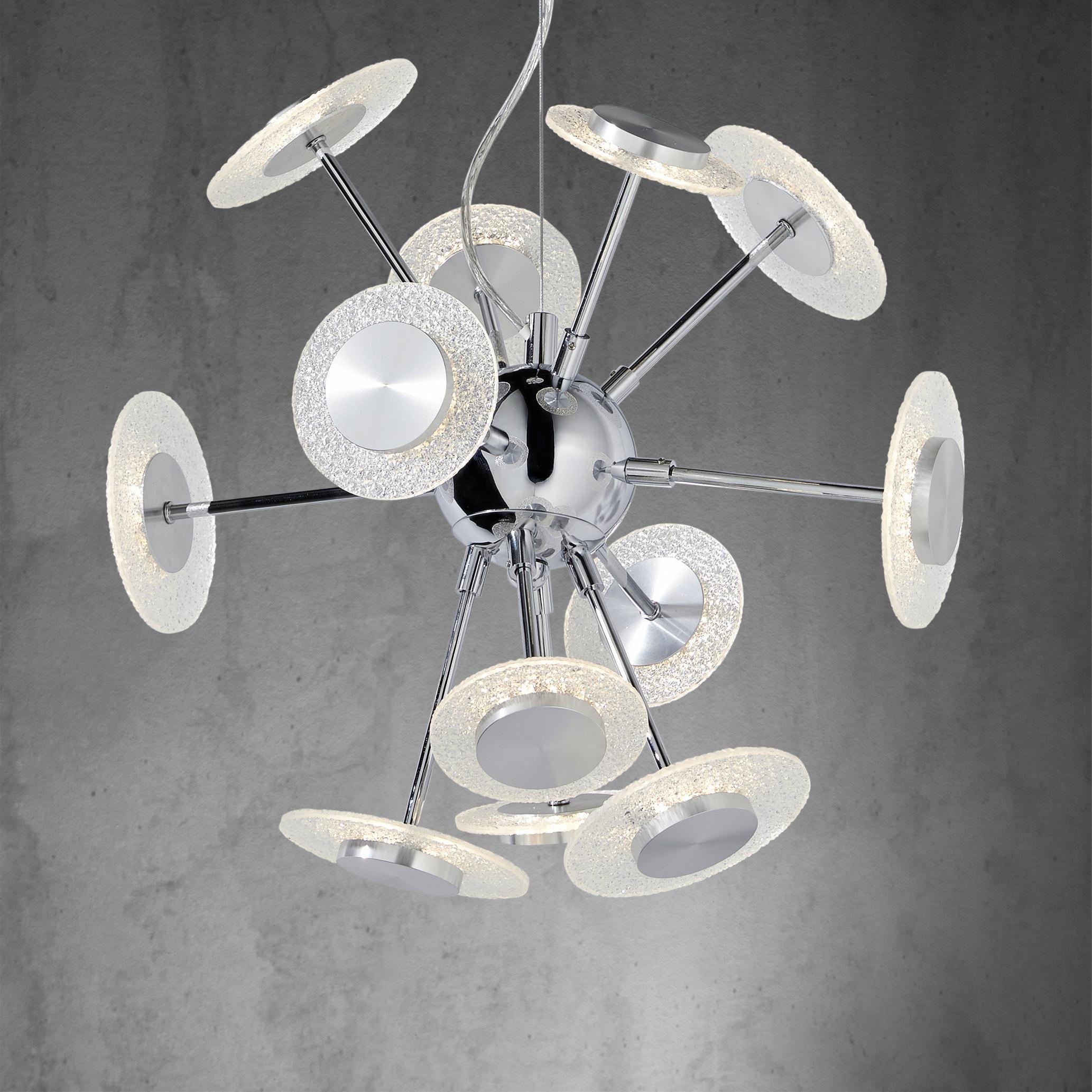 LED-Hängeleuchte Parici - Chromfarben, MODERN, Kunststoff/Metall (43/43/133cm) - MÖMAX modern living