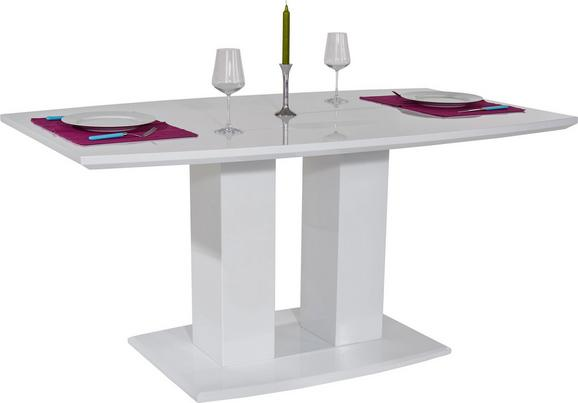 Étkezőasztal Malvin 160 - Fehér, modern, Faalapú anyag (160/76/90cm)