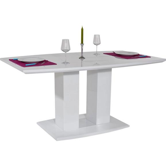 Jedilna Miza Malvin Ca. 160x90 Cm - bela, Moderno, leseni material (160/76/90cm) - Mömax modern living