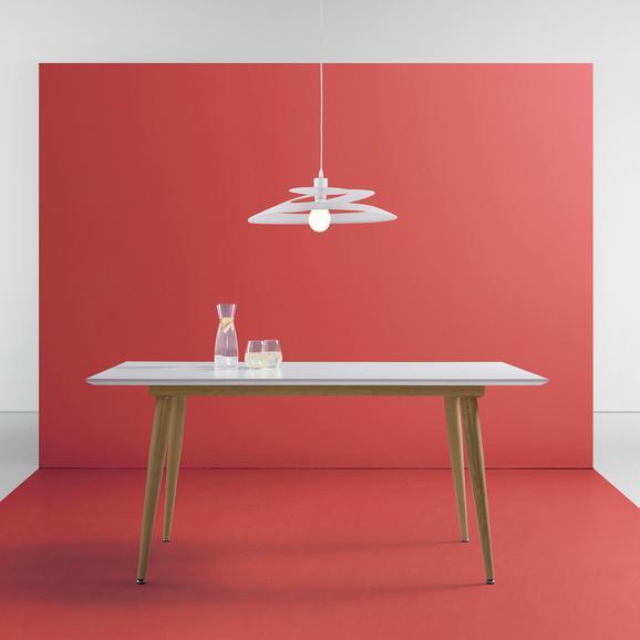 Tisch Claire ca.160x90cm - Eichefarben/Weiß, MODERN, Holz/Metall (160/90/76,5cm) - Mömax modern living