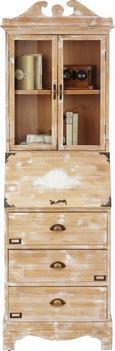 Vitrine Marvin - Bronzefarben/Naturfarben, ROMANTIK / LANDHAUS, Glas/Holz (59/180,5/39cm) - Mömax modern living