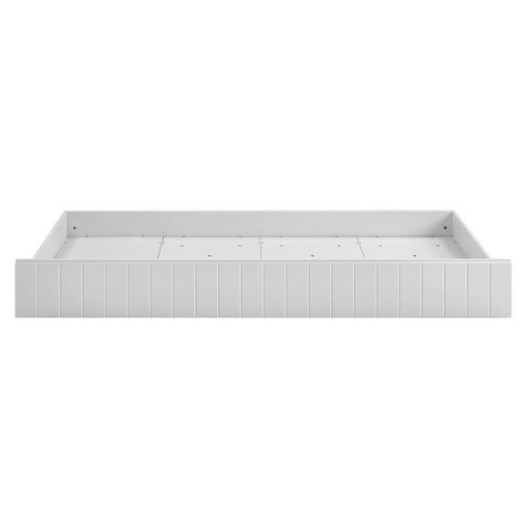 BETTKASTEN LUKA - Weiß, Design, Holzwerkstoff/Kunststoff (195/93/17cm)