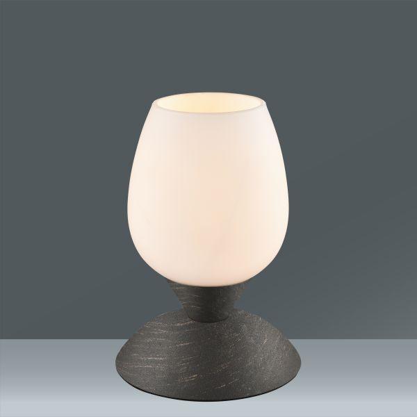 Tischleuchte Cup, max. 40 Watt - Rostfarben/Weiß, LIFESTYLE, Glas/Metall (12,5/22,6cm) - MÖMAX modern living
