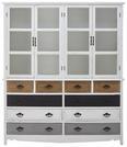 Buffet Florina - Braun/Weiß, MODERN, Glas/Holz (150/175/32cm) - Modern Living